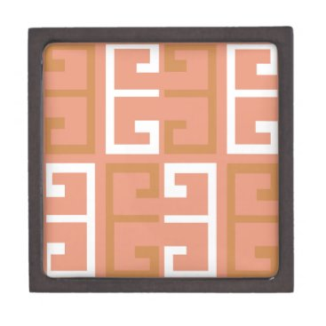 Aztec Themed Peach Melba Tile Keepsake Box