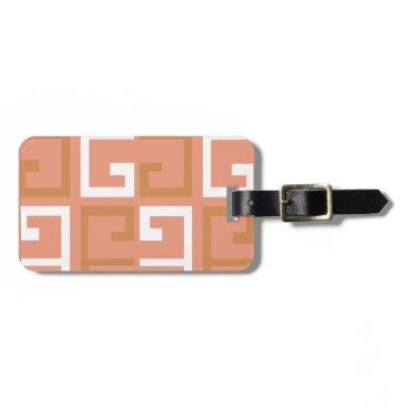 Aztec Themed Peach Melba Tile Luggage Tag