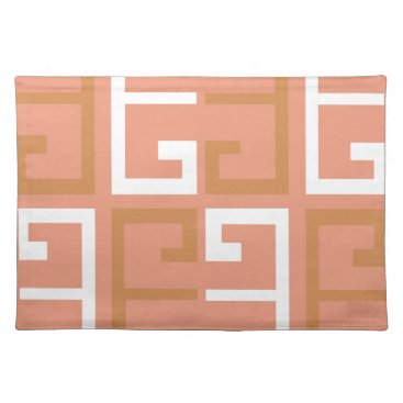 Aztec Themed Peach Melba Tile Placemat