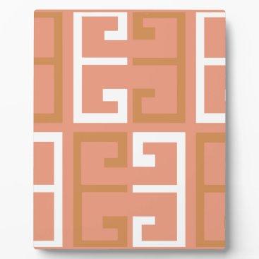 Aztec Themed Peach Melba Tile Plaque