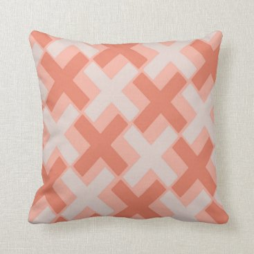 Aztec Themed Peach Melba Xs Throw Pillow