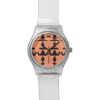 Peach Minimal Tribal Wrist Watch