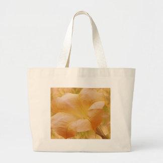 Peach Moon Flower Canvas Bag