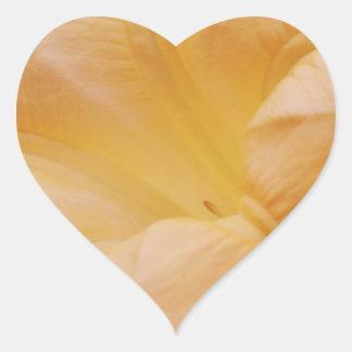 Peach Moon Flower Heart Sticker