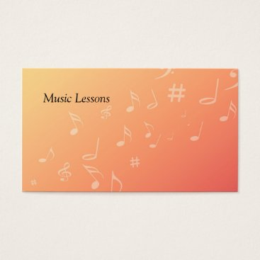 Professional Business Peach Music Business Card