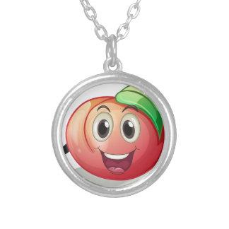 Peach Round Pendant Necklace
