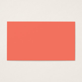 Peach Nectarine Pink Color Trend Blank Template Business Card