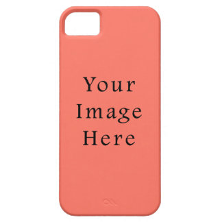 Peach Nectarine Pink Color Trend Blank Template iPhone 5 Covers