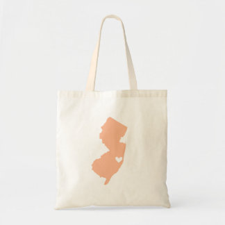 Peach New Jersey Wedding Welcome Tote