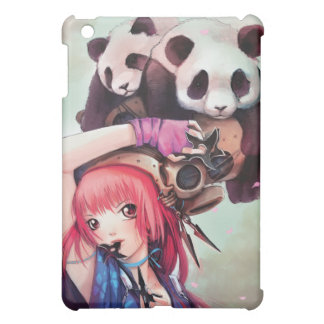 Peach Ninja Pandas iPad Case