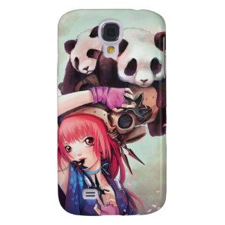 Peach Ninja Pandas iPhone 3 Case