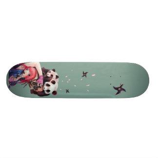 Peach Ninja Pandas Skateboard