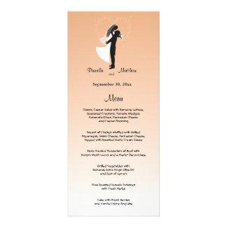 Peach Ombre Customizable Wedding Menu Card Customized Rack Card