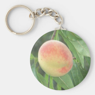 Peach on the Tree keychain