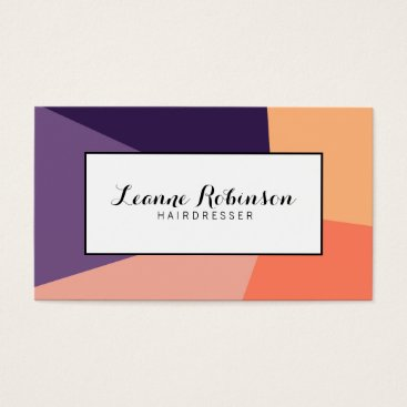 Professional Business Peach, orange and purple modern business card