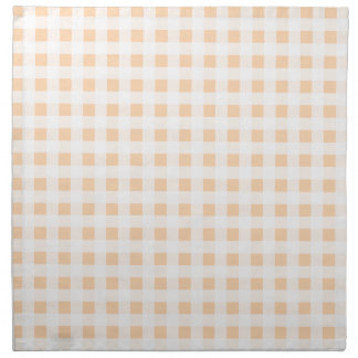 Peach Orange and White Gingham Cloth Napkin