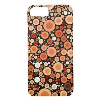 Peach Orange Circles Geometric Pattern iPhone 7 Case