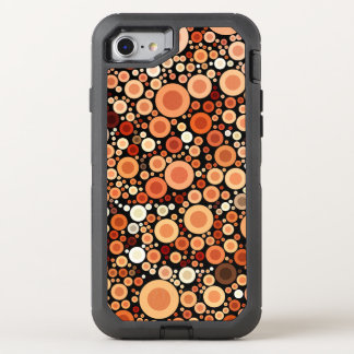 Peach Orange Circles Geometric Pattern OtterBox Defender iPhone 7 Case