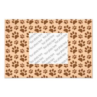 peach orange dog paw print pattern photo print
