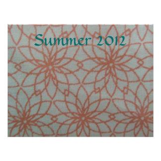 Peach Orange Lace Custom Scrapbook Paper Custom Letterhead