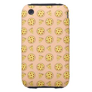 Peach orange pizza pattern tough iPhone 3 case