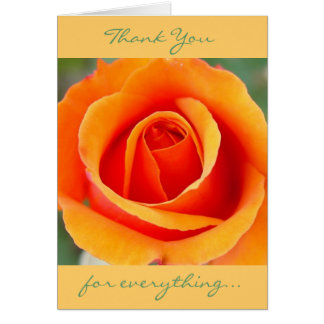 Peach/Orange Thank You Card