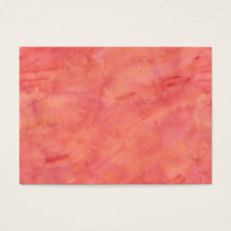 Peach Orange Watercolor Texture Pattern Business Card