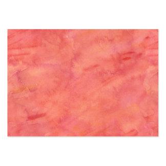 Peach Orange Watercolor Texture Pattern Large Business Card