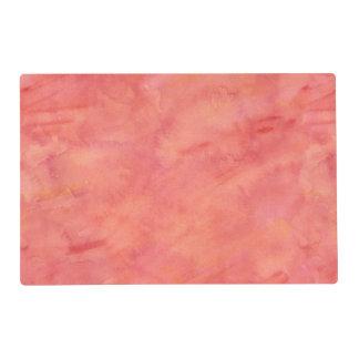 Peach Orange Watercolor Texture Pattern Placemat