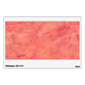 Peach Orange Watercolor Texture Pattern Wall Sticker