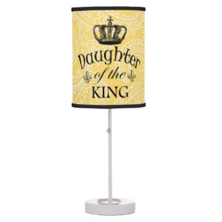 Peach Paisley Daughter of the King Table Lamp