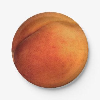 """Peach Paper Plates 7"""""""