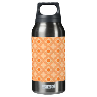 Peach Pattern Insulated Water Bottle