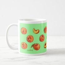 Peach pattern mug - green