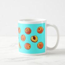 Peach pattern mug - turquoise