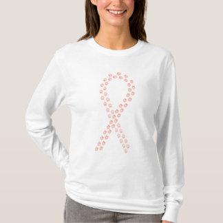 Peach Pawprint Ribbon T-Shirt