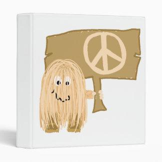 peach peace vinyl binder