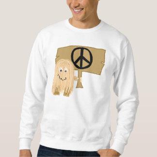 peach peace sweatshirt
