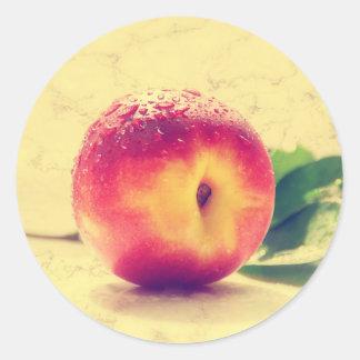 Peach Pegatina Redonda
