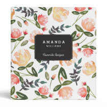 Peach Peonies Binder