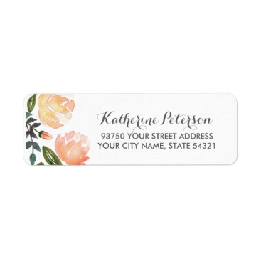 origamiprints Peach Peonies Label