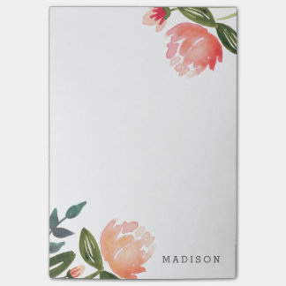 Peach Peonies Post-it Notes