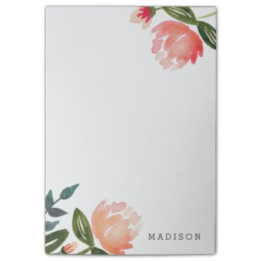 origamiprints Peach Peonies Post-it Notes