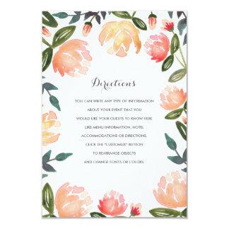 Peach Peonies Wedding Insert Card
