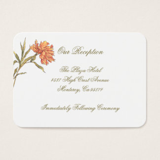 Peach Peony Floral Reception Insert Cards