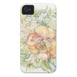 Peach Peony Watercolor iPhone Case Case-Mate iPhone 4 Case