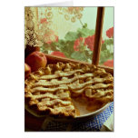 Peach pie for food lovers greeting card