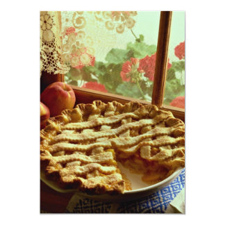Peach pie for food lovers 5x7 paper invitation card