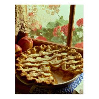 Peach pie for food lovers postcard