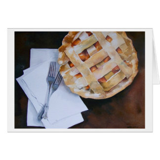 """"""" PEACH PIE FOR TWO """" GREETING CARD"""